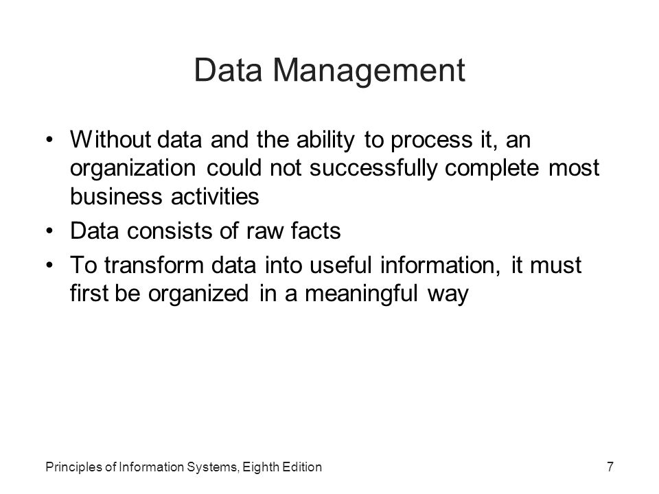 Principles Of Information Systems Eighth Edition Ppt
