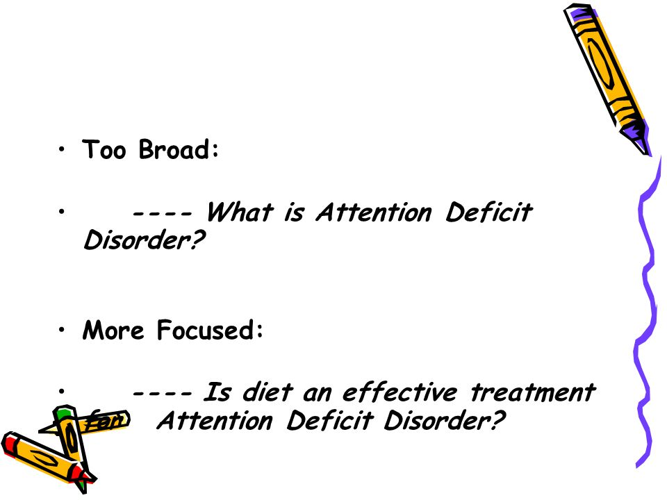 a research on attention deficit disorder