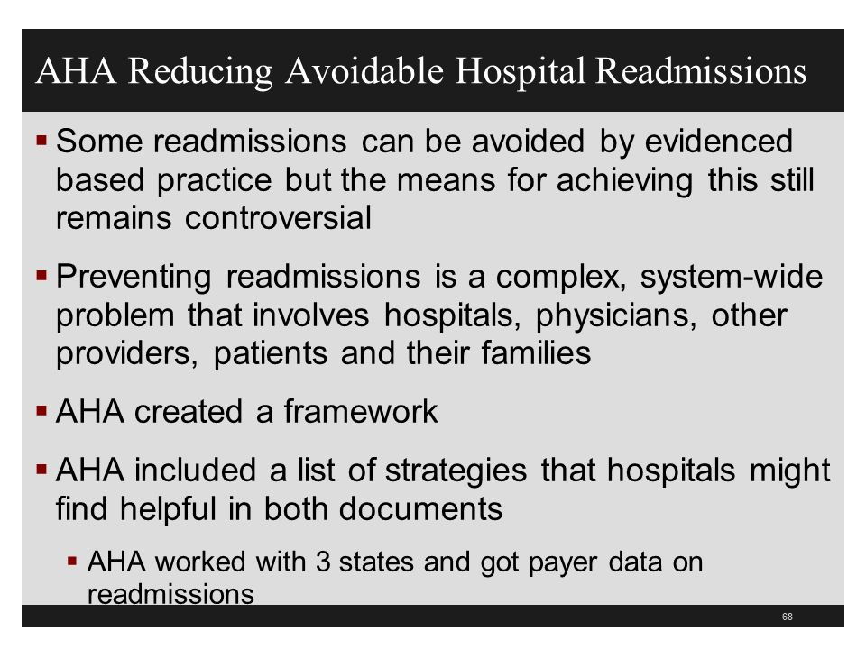 hospital readmissions Background readmissions to hospital are increasingly being used as an indicator of quality of care however, this approach is valid only when we.
