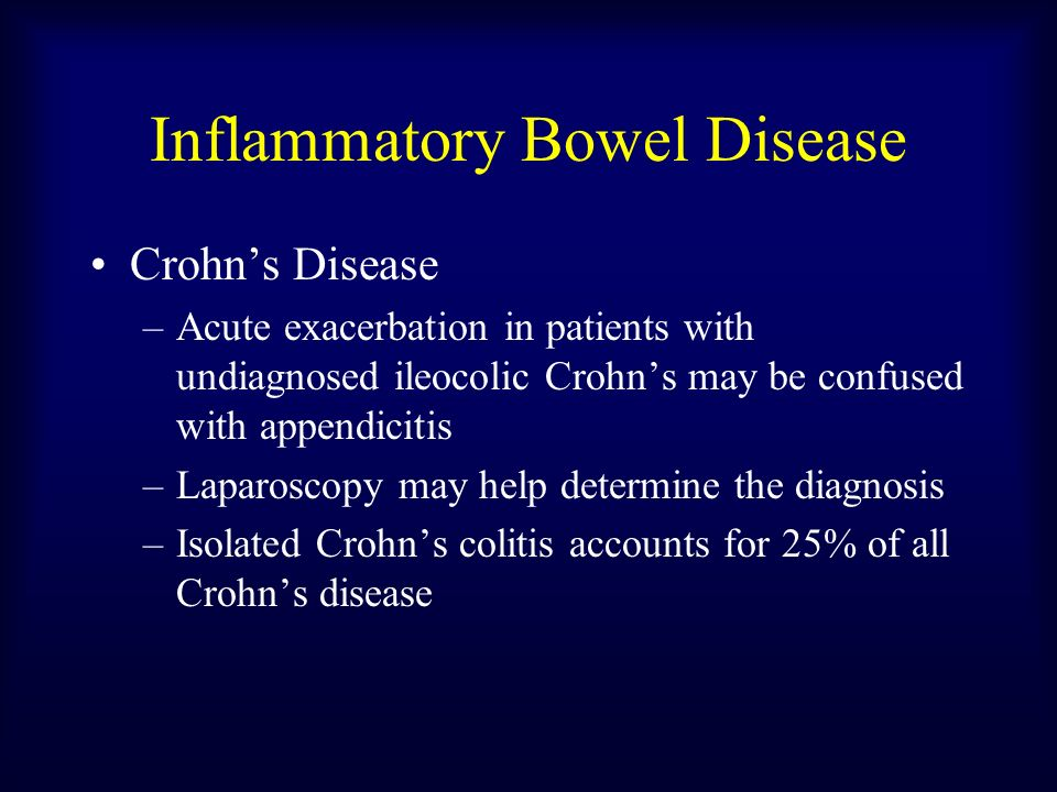 acute management of crohns disease essay