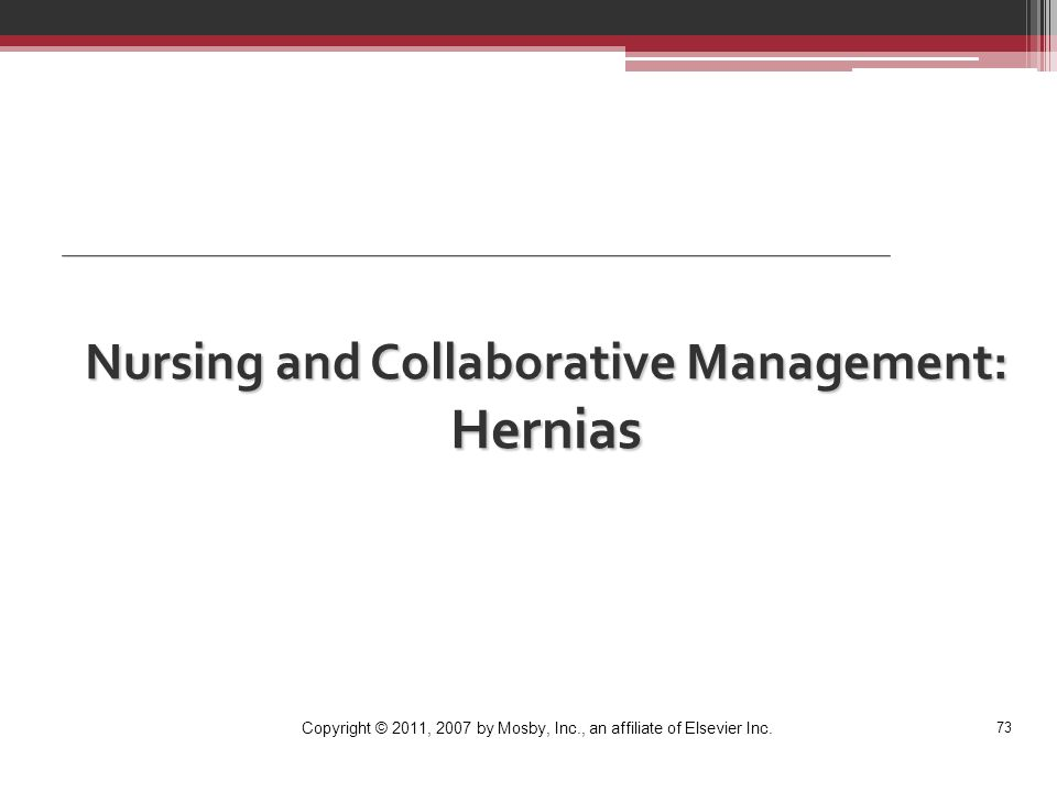 Nursing and Collaborative Management: Hernias