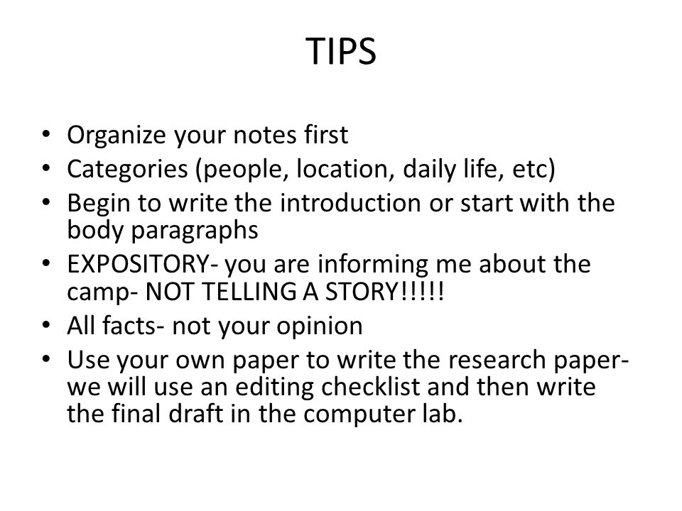 how to begin to write a research paper
