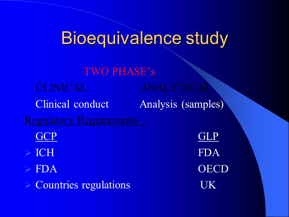 Bioavailability and Bioequivalence Studies - SlideShare