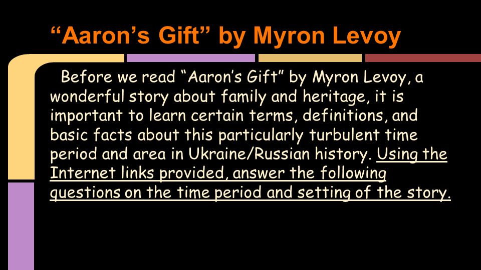 """Aaron's Gift"""" Research - ppt video online download"""