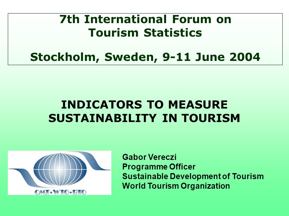 7th International Forum on Tourism Statistics