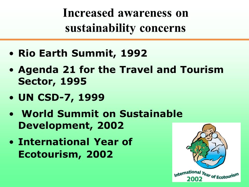 Increased awareness on sustainability concerns