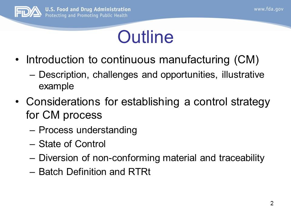 fda regulatory perspective on continuous manufacturing - ppt video, Presentation templates