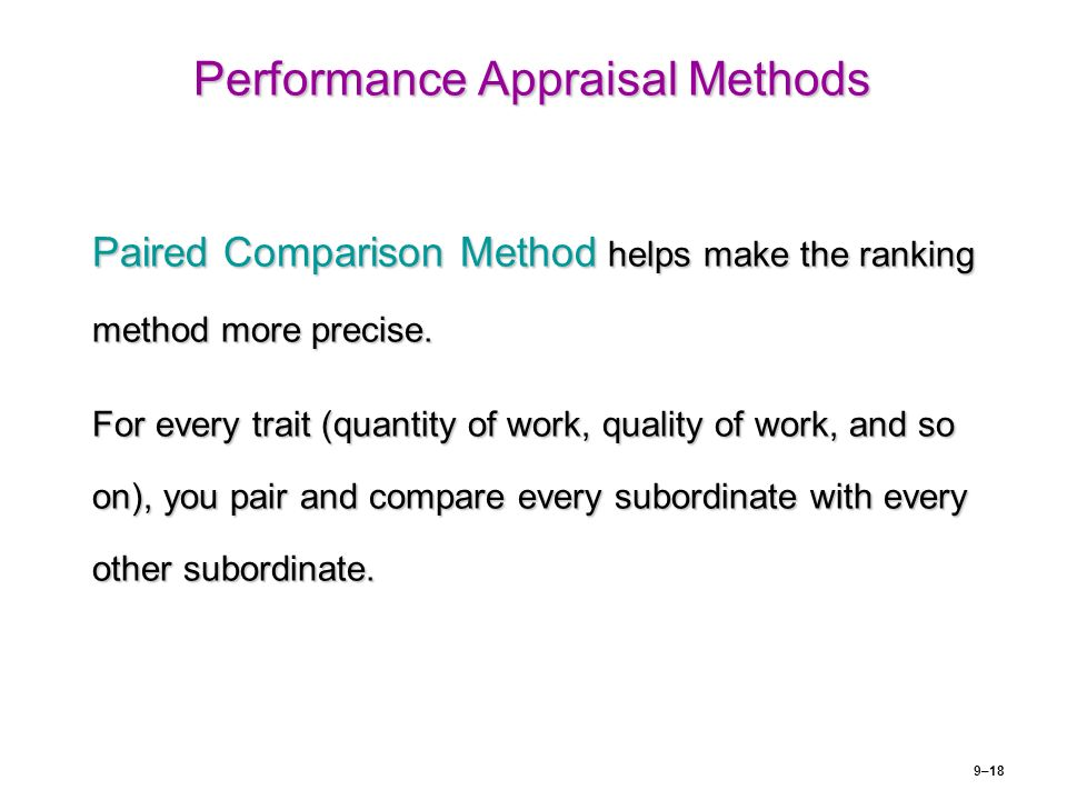Approaches for measuring performance of employees