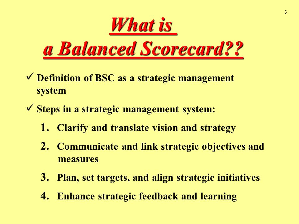 a balanced scorecard is The balanced scorecard (bsc) can be considered as a strategic measurement  tool since its first publication by norton and kaplan in the early 1990's, many.