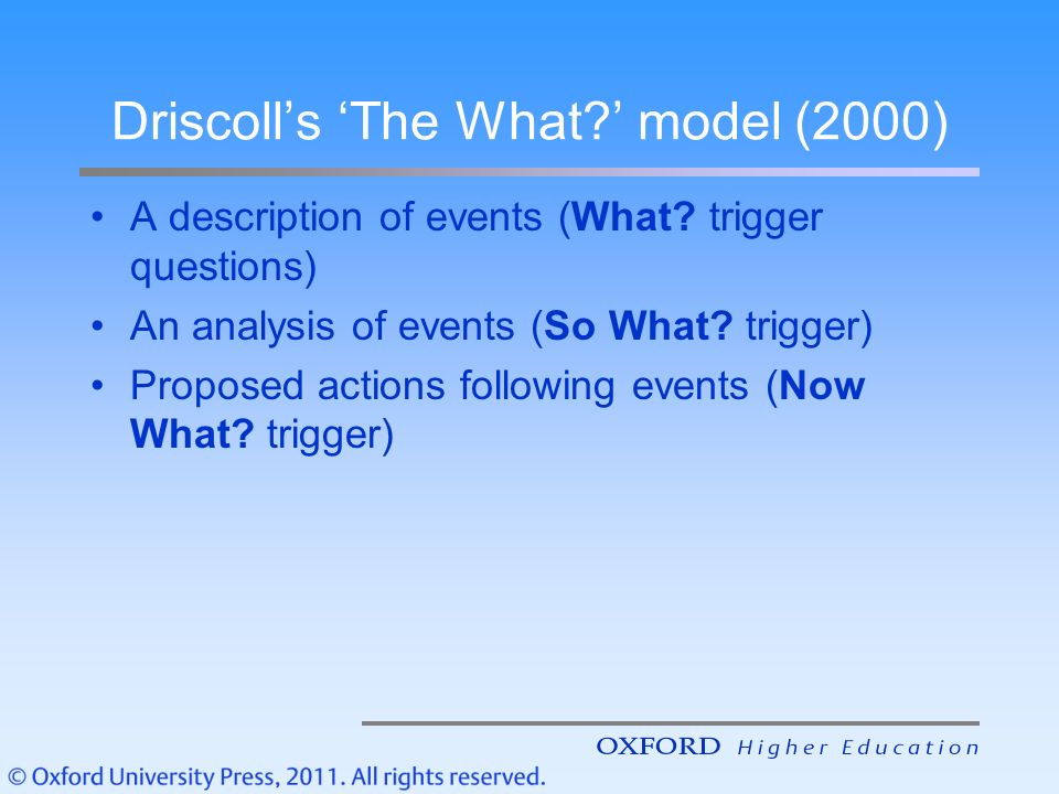 driscoll model about reflect 2000