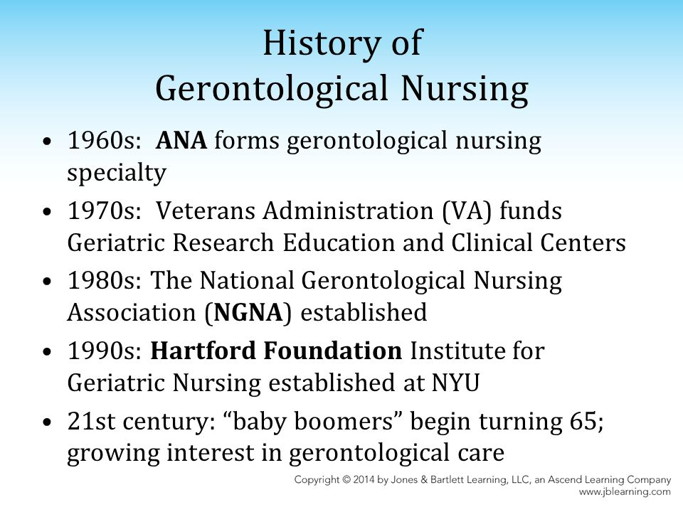 geriatric nursing research paper The american federation for aging research supports healthy aging  studies  pertaining to geriatric medicine, nursing, and social work.