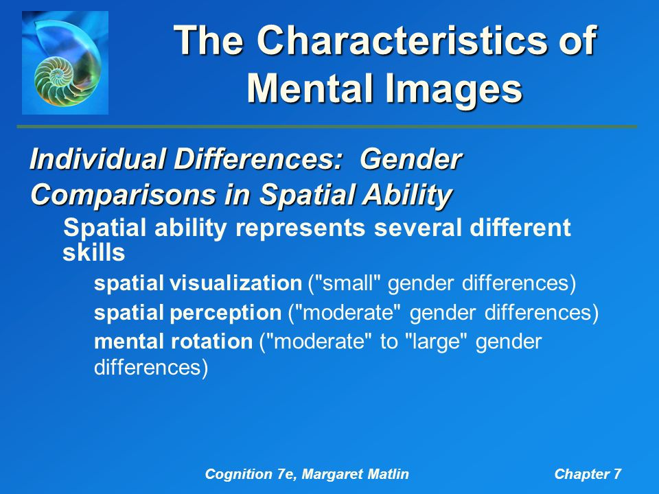 gender differences in mental rotation experiment This experiment required the rotation of both mirror-image-different and  the relation of computer and videogame usage to gender differences in mental rotation.