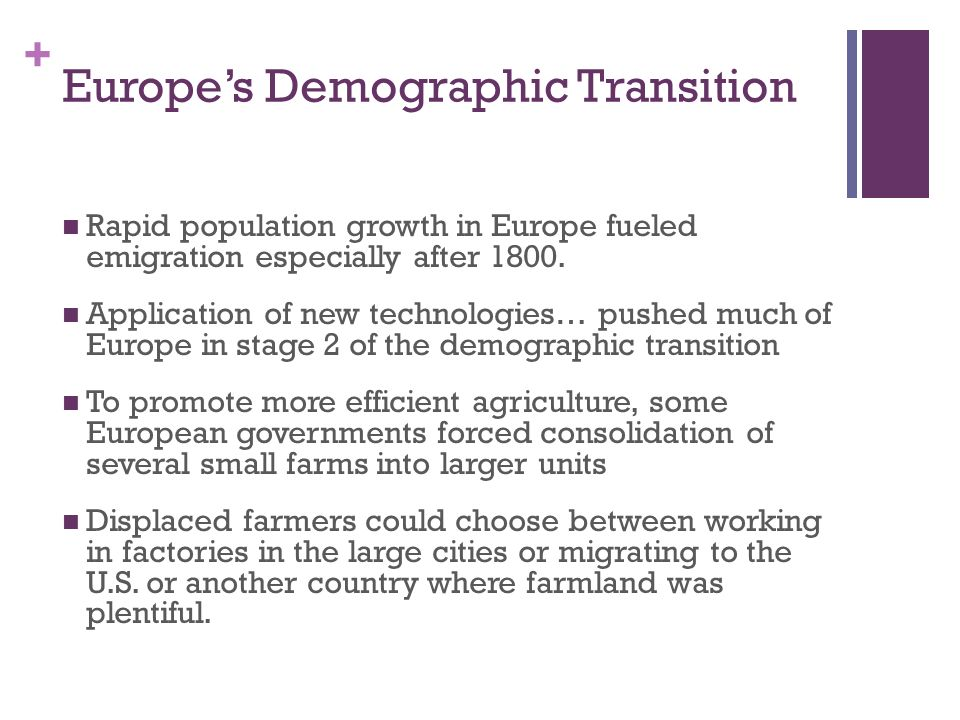 Europe's Demographic Transition