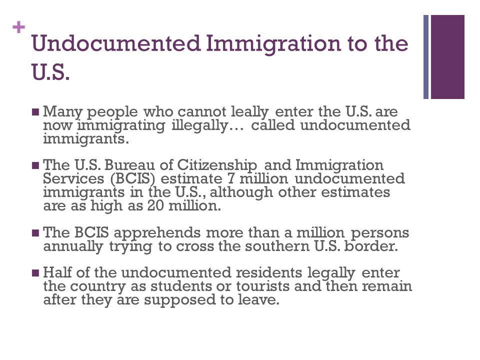 Undocumented Immigration to the U.S.