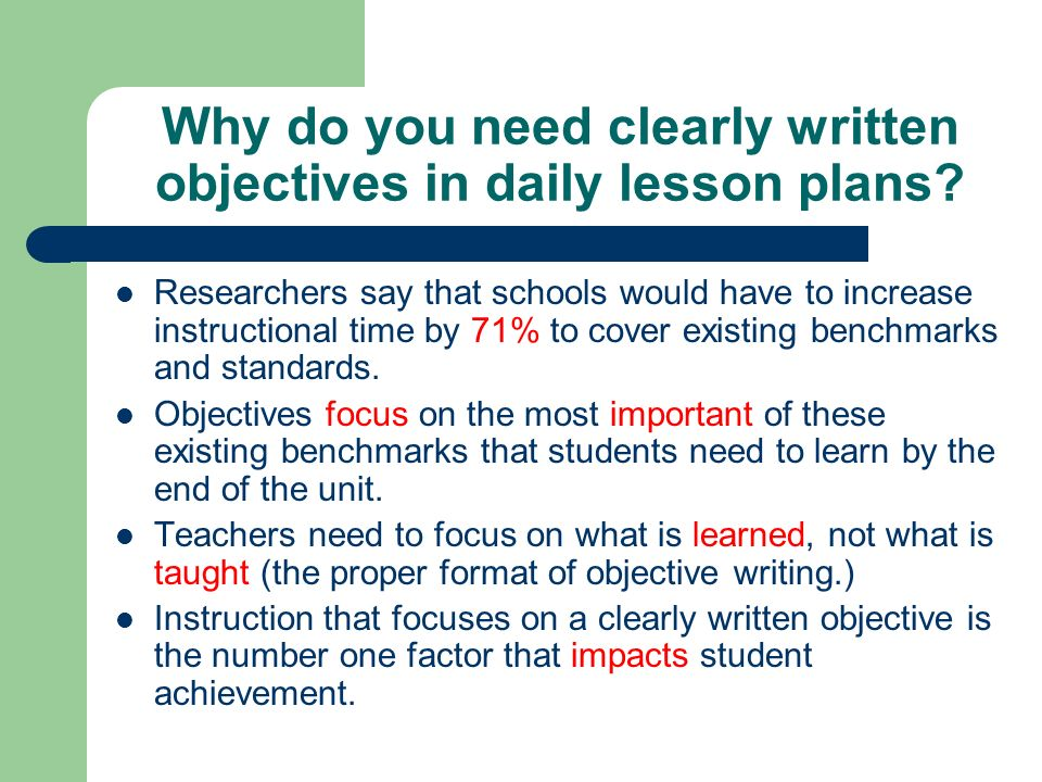 How to Write Effective Objectives - ppt video online download