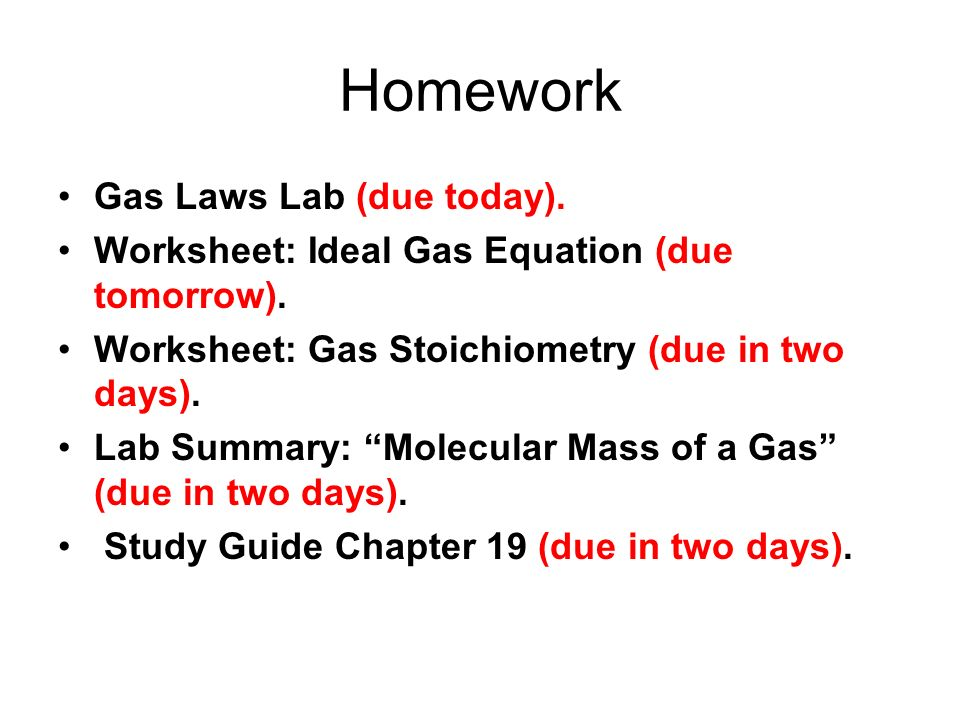 Chapter  Gas Stoichiometry  Ppt Download