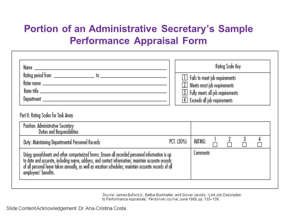 Sample Performance Appraisal  MayotteOccasionsCo
