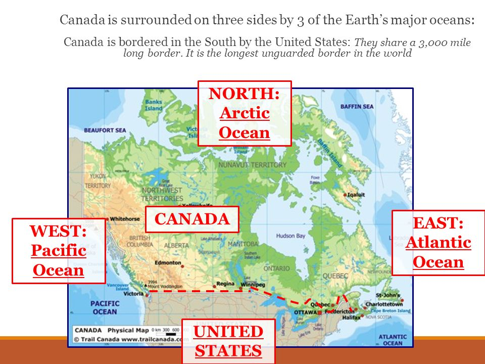 Canada Geography SS6G5 The student will locate select features of