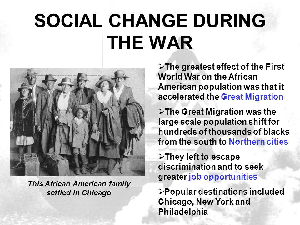 the relocation of african americans in the united states during the great migration Sharpe and his wife, who ran women's shelter services for the city,  but 60  years after he arrived in new york, sharpe did move back to the south  before  the great migration of african americans from the south to the north.