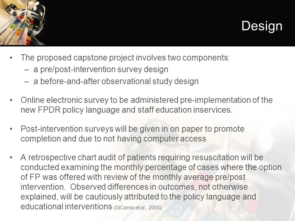 capstone proposal modified The proposal requires acceptance and endorsement by the student's thesis (evaluating) committee by defending the proposal before the committee please note: if the thesis proposal is not approved before data collection is started, or if the research process is substantially different from an approved proposal and/or if there are ethical.