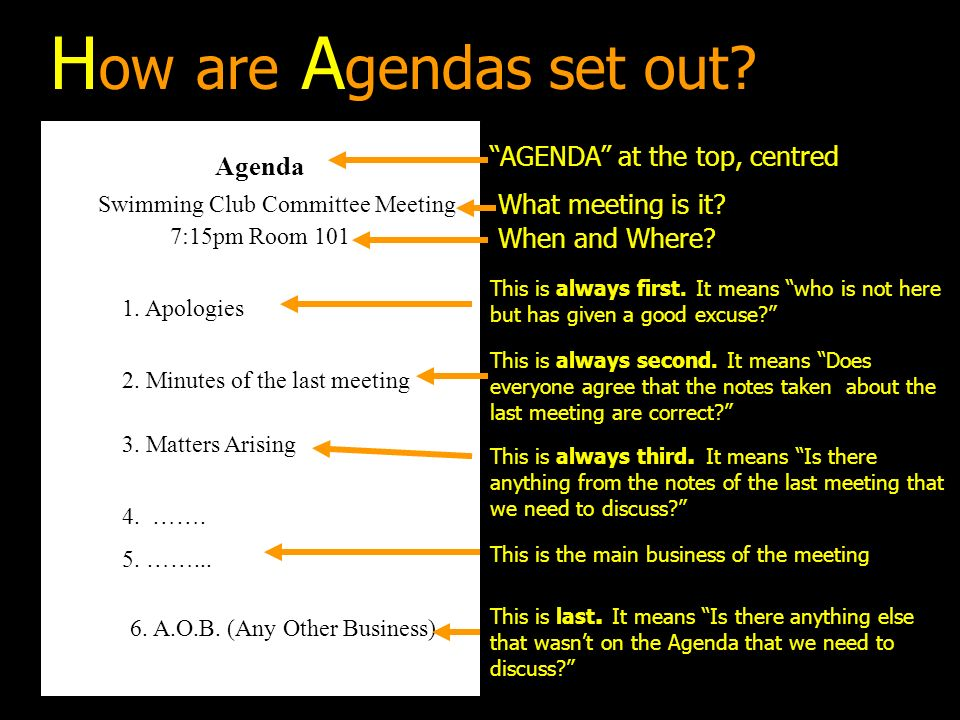 Agendas What Is An Agenda? - Ppt Download