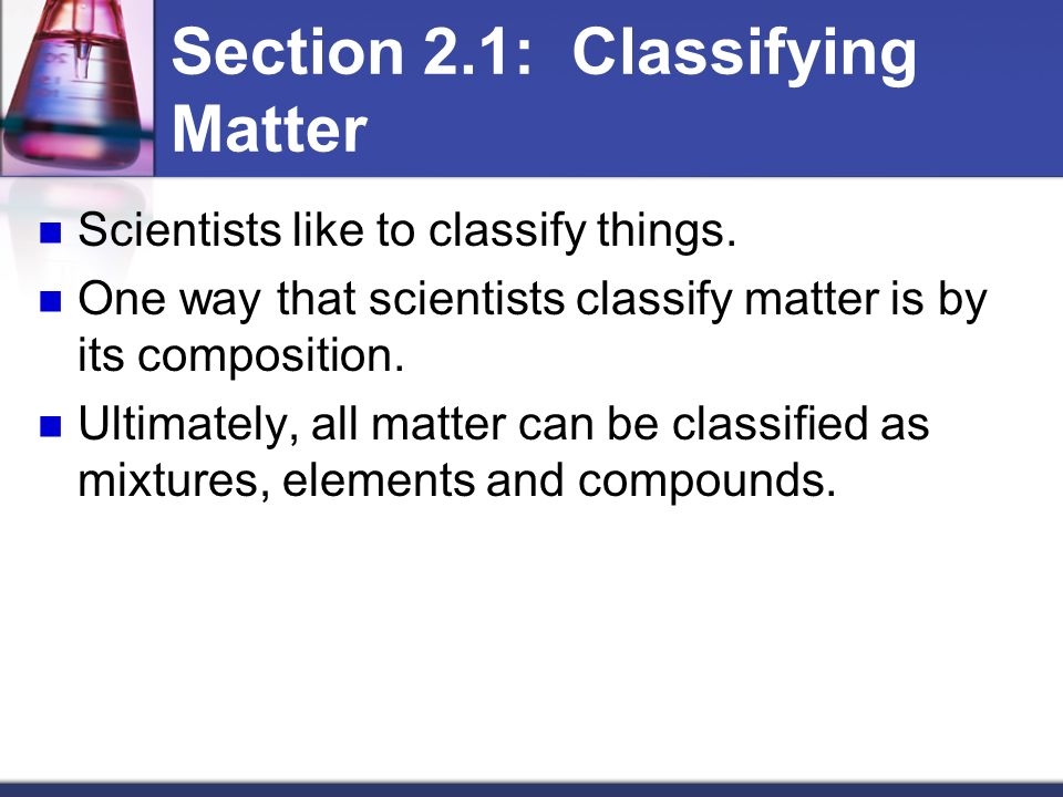 Chemistry worksheet section 2 1 composition of matter