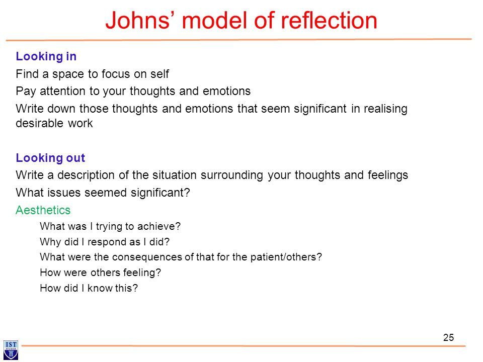 Johns' model of reflection