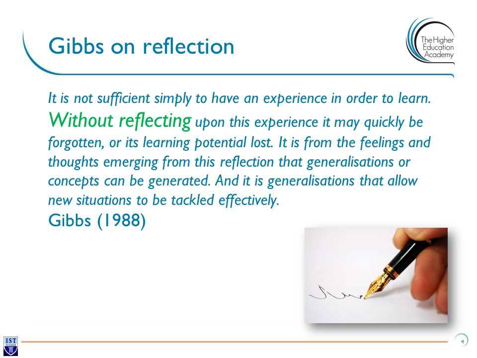 gibbs reflection essay Nursing essay sample ± newessayscouk newessayscouk nursing essay sample page 2 figure one: the gibbs reflective cycle (source: adapted from.