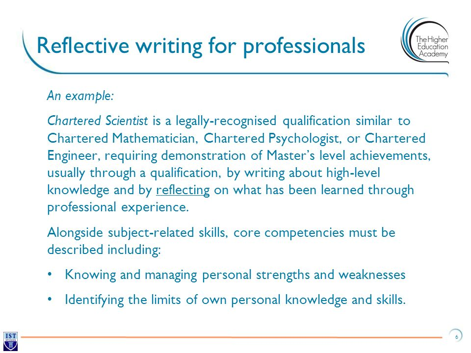 Reflective writing for professionals