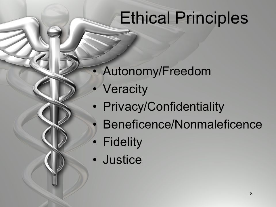 five principles autonomy beneficence nonmaleficence justice and fidelity Compare and contrast the aca's 5 moral principles (autonomy, nonmaleficence, beneficence, justice, fidelity) with clinton & ohlschlager's 7 virtues on co p 248-249.