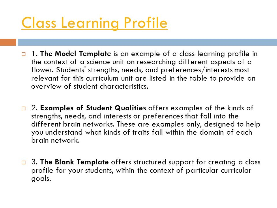 Magnificent Learner Profile Template Contemporary - Example Resume ...