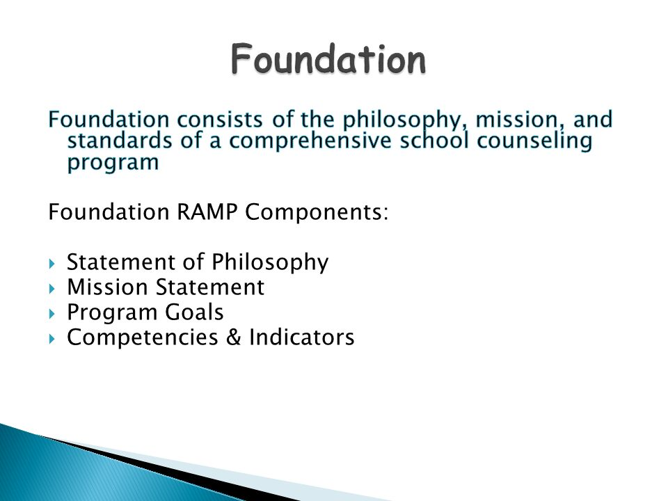 philosophy of school counseling All ethnic, cultural, sexual orientation, and academic special needs are considered in planning and implementing the school counseling program.