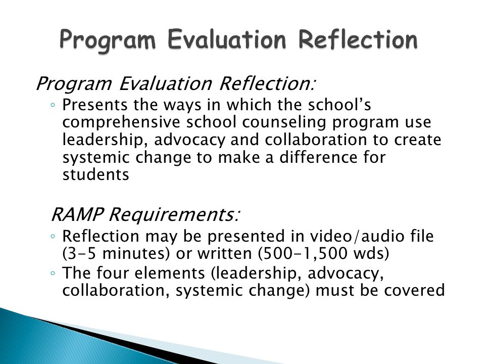 reflective evaluation of the skills of counselling The course teaches fundamental counseling skills such as relationship building, basic assessment, goal setting, selecting interventions and evaluation of client outcomes  learn to evaluate the outcomes of counseling as a reflective practitioner  student interventions during session & evaluation of depth.