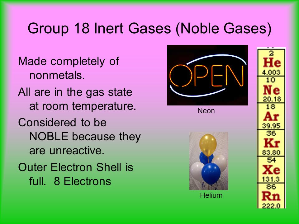 What is a Noble Gas?