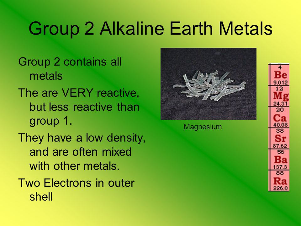 group 2 alkaline earth metals - Periodic Table Group 2 Alkaline Earth Metals