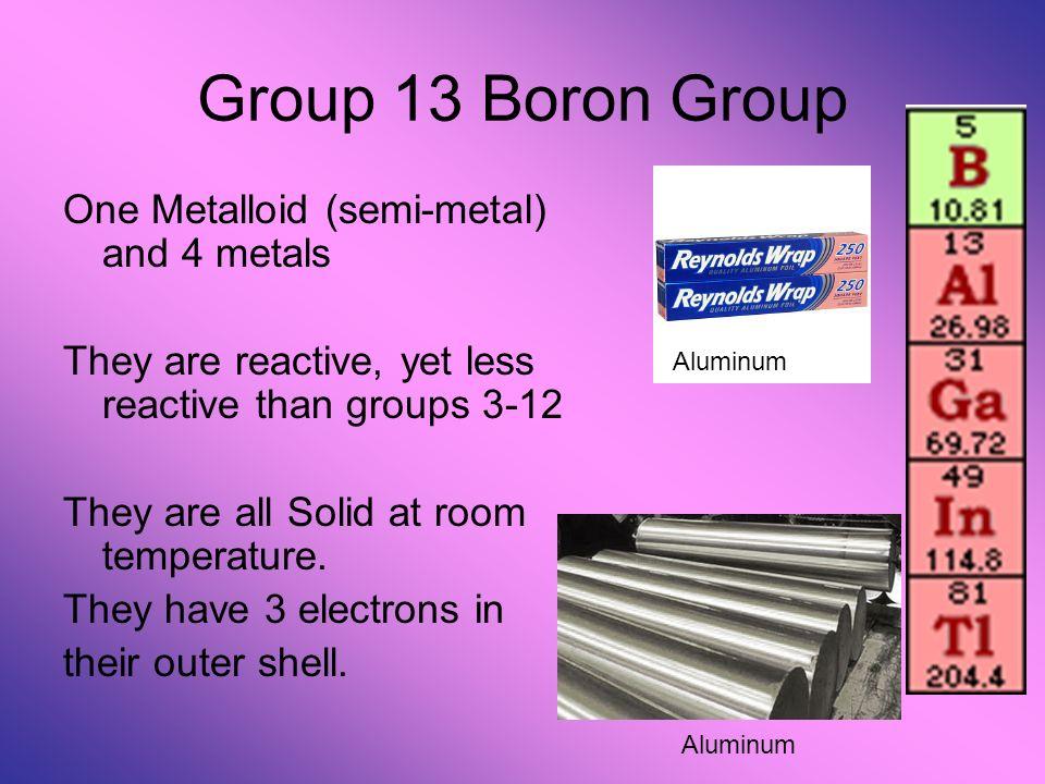 a report on boron a semi metallic element