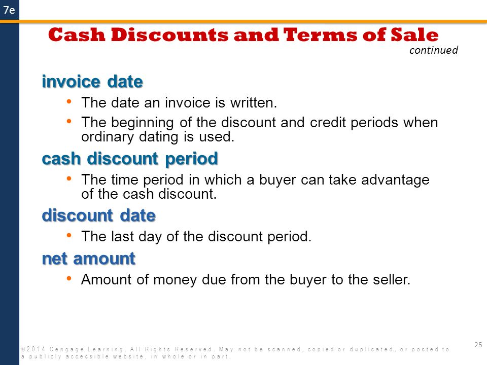 Invoices Trade Discounts And Cash Discounts  Ppt Video Online