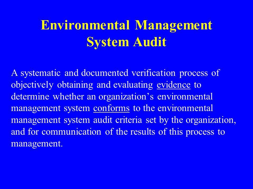 Environmental Management System Audit