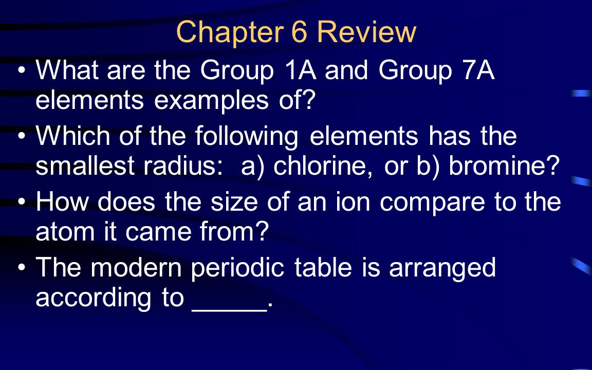 Chapter 9 review states of matter ppt video online download chapter 6 review what are the group 1a and group 7a elements examples of gamestrikefo Image collections