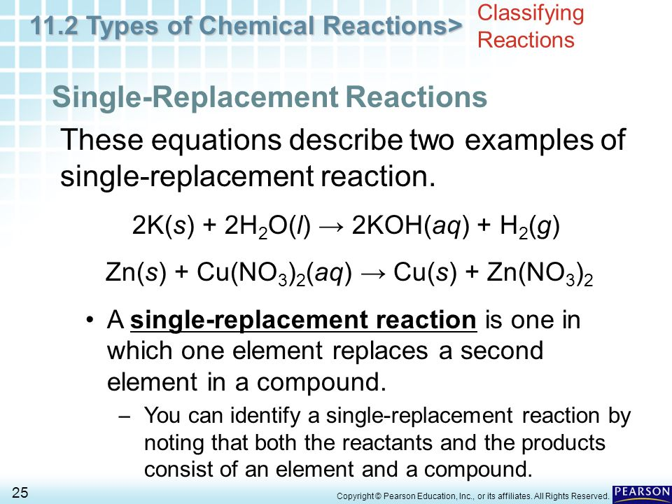 Chapter 11 Chemical Reactions 11.2 Types of Chemical ...