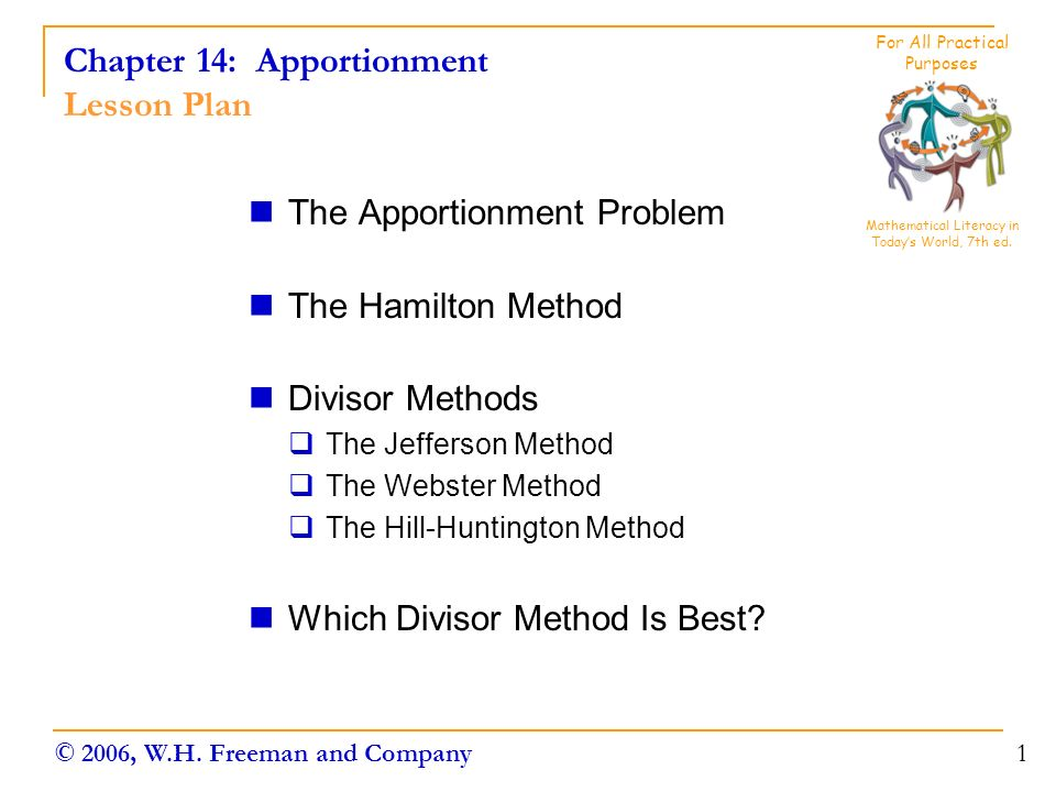the apportionment problem Apportionment problems example i have a class of 10 students and i have 50 pieces of candy to hand out i will distribute the candies according to the number of correct.