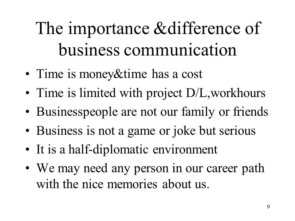 """an introduction to the importance of communication in business An introduction to technical communication 7 the importance of technical communication the national commission on writing concluded that """"in today's workplace writing is a."""