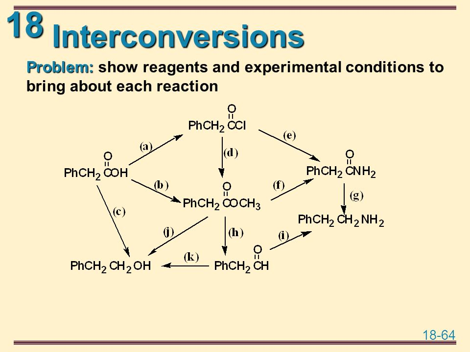 reagents and conditions for organic chemistry A large part of organic chemistry involves building more complex molecules from   give reagents and conditions and the intermediate molecules at each step.