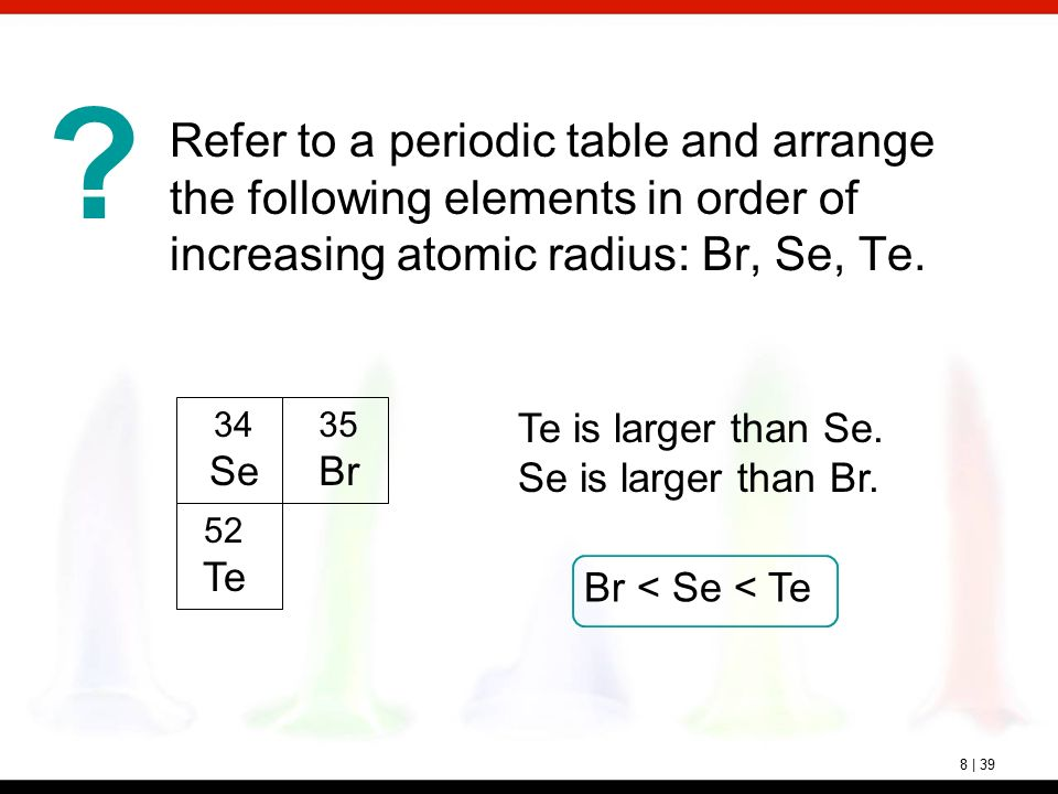 Chapter 8 electron configurations and periodicity ppt video refer to a periodic table and arrange the following elements in order of increasing atomic radius urtaz Gallery