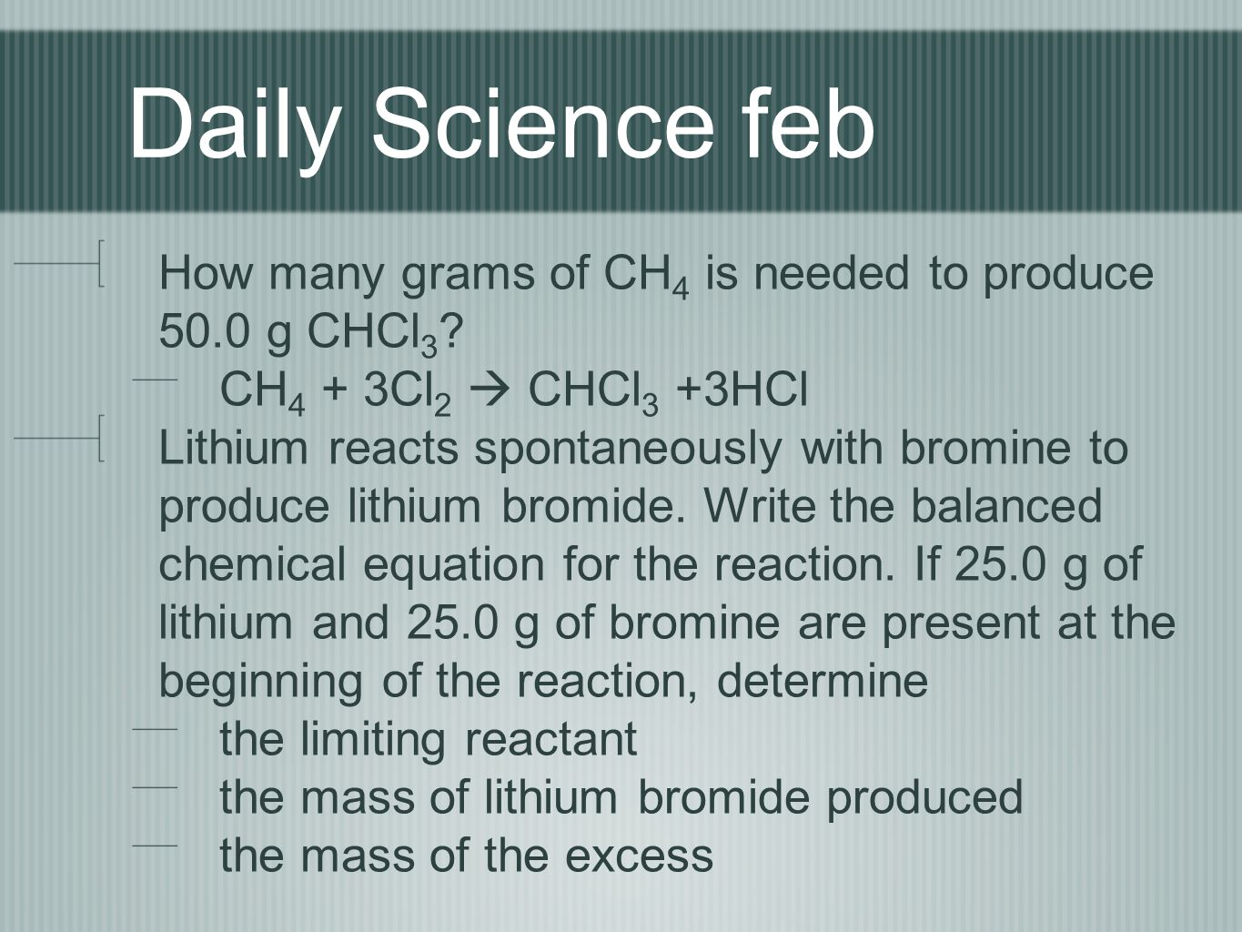 Daily science feb how many grams of ch4 is needed to produce 500 1 daily biocorpaavc Image collections