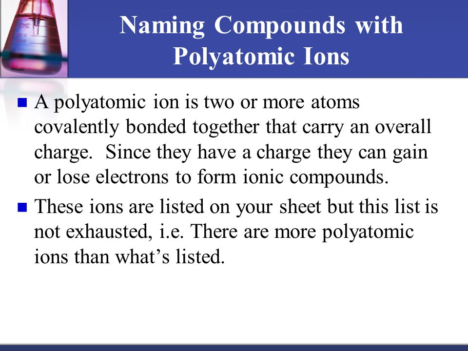 polyatomic ions list with charges pdf
