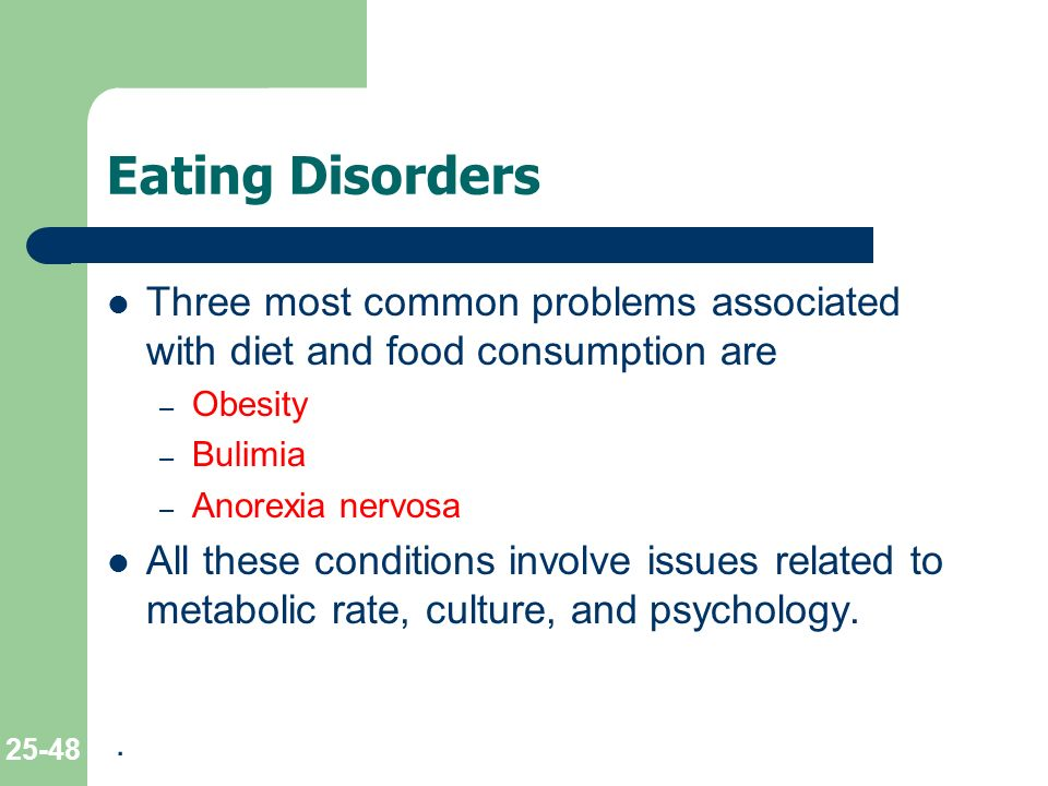 eating disorders anorexia nervosa and obesity Eating disorders and obesity are typically viewed as separate medical issues but in fact share many similarities: unhealthy eating practices, weight problems, and binge eating (a behavioral habit spanning obesity, bulimia nervosa and binge eating disorder.