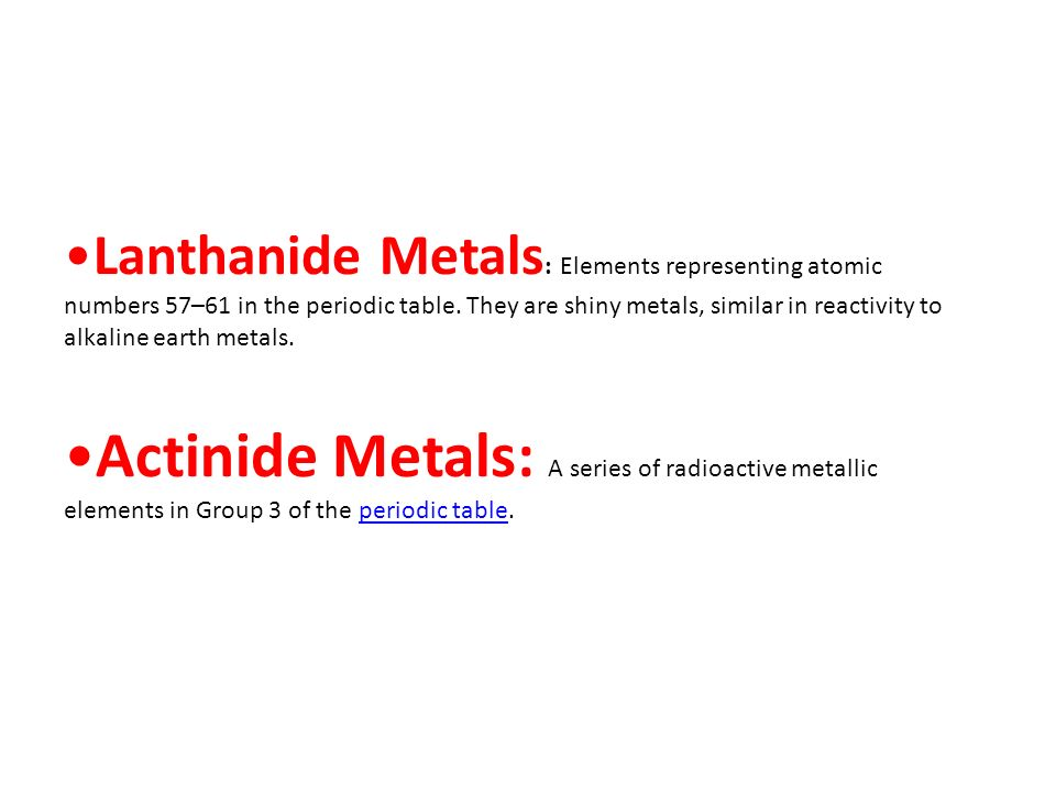applications of the reactivity of metals