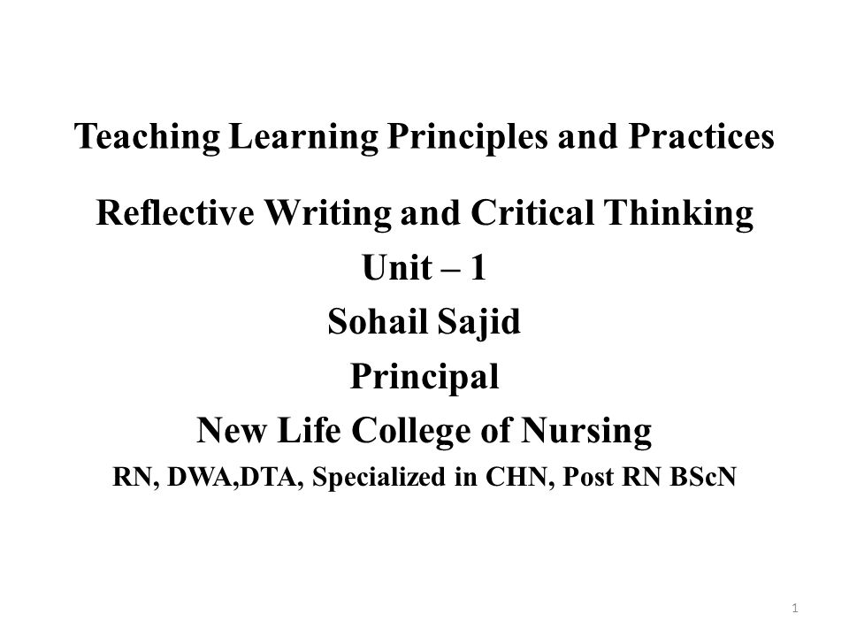 Adult Learning Principles and Presentation Pearls