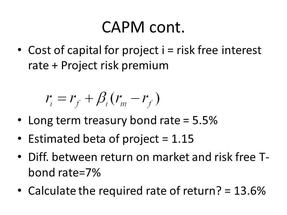 cost of capital1 Let's compute the cost of capital by assuming that a corporation has $40 million of long-term debt with an after-tax cost of 4%, $10 million of 7% preferred stock, and $50 million of common stock and retained earnings with an estimated cost of 15.